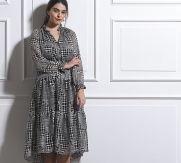 Beige Plus Size London Dresses