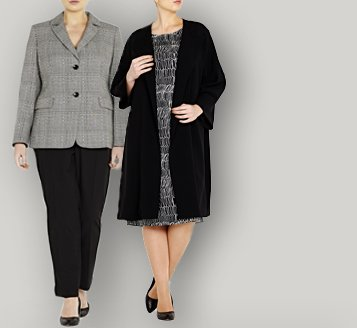 Beige Plus Size London Work Wear