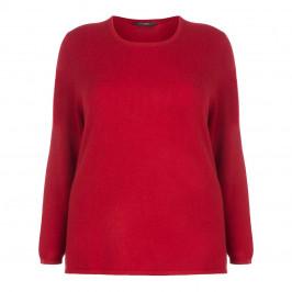 SANDRA PORTELLI RED PURE CASHMERE SWEATER - Plus Size Collection
