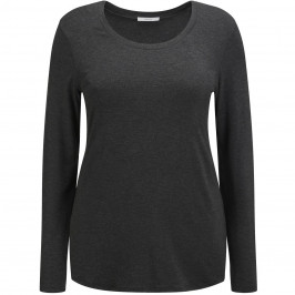 Persona charcoal long sleeve scoop neck top - Plus Size Collection