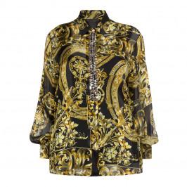 MARINA RINALDI BAROQUE PRINT SILK SHIRT - Plus Size Collection