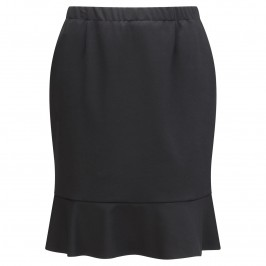 VERPASS black fluted flare skirt - Plus Size Collection