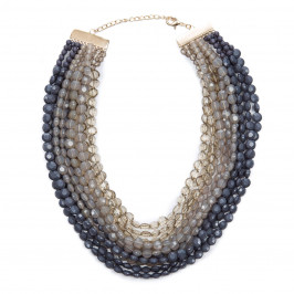 ADELE MARIE MULTISTRAND CRYSTAL NECKLACE - Plus Size Collection