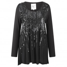 Que SEQUINNED FRONT TUNIC - Plus Size Collection