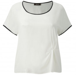 Persona white with black edging short sleeve top - Plus Size Collection