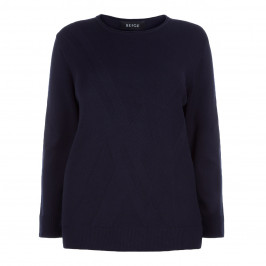 BEIGE LABEL NAVY SWEATER - Plus Size Collection
