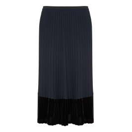 Elena Miro Full Length Pleated Velvet Hem Skirt - Plus Size Collection