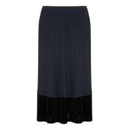 Elena Miro Full Length Pleated Velvet Hem Skirt - Plus Size Collection