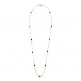 ADELE MARIE IMITATION PEARL AND BEAD NECKLACE - Plus Size Collection