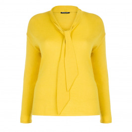 PER TE BY KRIZIA DETACHABLE PUSSYBOW SWEATER YELLOW - Plus Size Collection