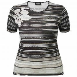 Godske floral and stripe T-SHIRT - Plus Size Collection