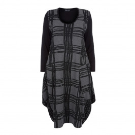 BEIGE LABEL JACQUARD DRESS - Plus Size Collection