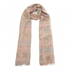 David & Alex pastel aztec print SCARF - Plus Size Collection