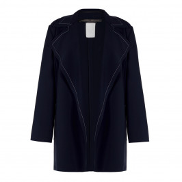 MARINA RINALDI FLUID JACKET NAVY - Plus Size Collection