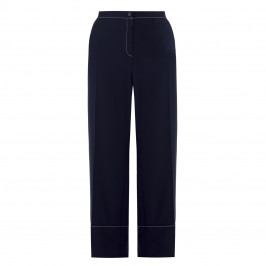MARINA RINALDI WIDE LEG TROUSER NAVY - Plus Size Collection
