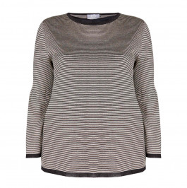 MARINA RINALDI FINE KNIT STRIPE SWEATER - Plus Size Collection