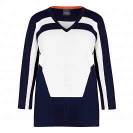 PERSONA BY MARINA RINALDI KNITTED TUNIC NAVY - Plus Size Collection