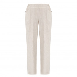 QNEEL CHEESECLOTH LINEN TROUSER BEIGE - Plus Size Collection