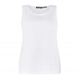 VERPASS SCOOP NECK VEST WHITE  - Plus Size Collection