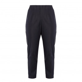 VERPASS PULL ON TROUSER RACING STRIPE BLACK - Plus Size Collection