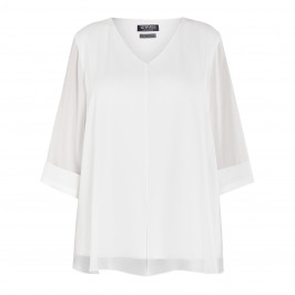 VEPASS GEORGETTE TUNIC WHITE - Plus Size Collection