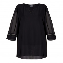 VERPASS MESH CUFF TUNIC - Plus Size Collection