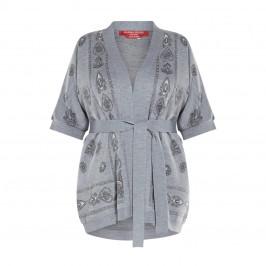 MARINA RINALDI KIMONO SLEEVE CARDIGAN GREY - Plus Size Collection