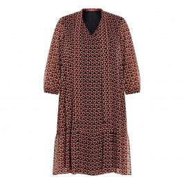 MARINA RINALDI GEORGETTE PRINT DRESS - Plus Size Collection