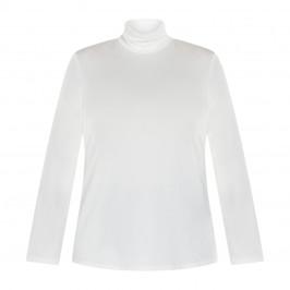 MARINA RINALDI JERSEY POLO NECK WHITE - Plus Size Collection