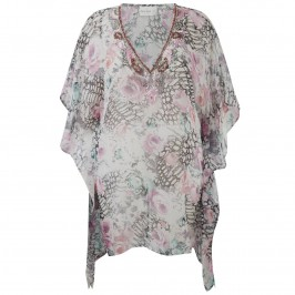 OPEN END kimono style silk chiffon Kaftan - Plus Size Collection
