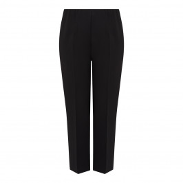 BEIGE PULL ON TROUSER BLACK - Plus Size Collection