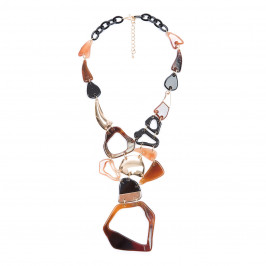 ADELE MARIE TORTOISE SHELL STATEMENT NECKLACE - Plus Size Collection