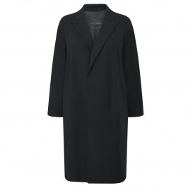 MARINA RINALDI FLUID FORMAL BLACK COAT - Plus Size Collection