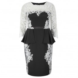 VEROMIA LACE DRESS WITH PEPLUM - Plus Size Collection