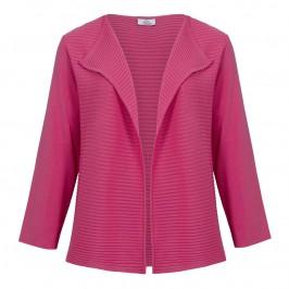 Karin pink horizontally ribbed edge to edge cardigan - Plus Size Collection