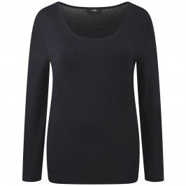 WILLE navy SCOOP NECK TOP - Plus Size Collection