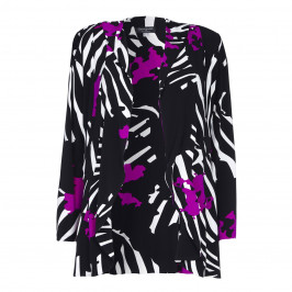 GEORGEDÉ LARGE ABSTRACT PRINT JACKET - Plus Size Collection