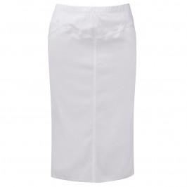 VERPASS WHITE LONGUETTE PENCIL SKIRT - Plus Size Collection
