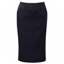 VERPASS NAVY LONGUETTE PENCIL SKIRT - Plus Size Collection