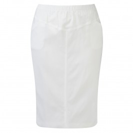VERPASS WHITE PENCIL SKIRT - Plus Size Collection