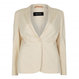 Beige label vanilla punto milano JACKET - Plus Size Collection