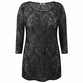 Krizia black sheer lace Tunic - Plus Size Collection