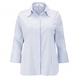 KARIN BLUE STRIPES SHIRT - Plus Size Collection