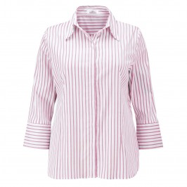 KARIN MAGENTA STRIPES SHIRT - Plus Size Collection