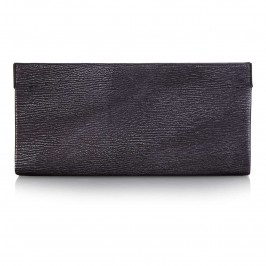 Abro Gunmetal Leather Clutch - Plus Size Collection