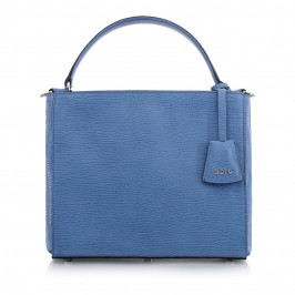 ABRO SKY BLUE LEATHER SHOULDER BAG