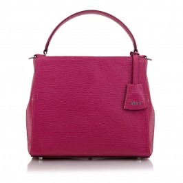 ABRO FUCHSIA LEATHER BAG WITH SHOULDER STRAP - Plus Size Collection