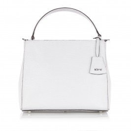 ABRO WHITE LEATHER BAG WITH SHOULDER STRAP - Plus Size Collection