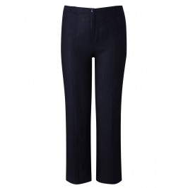 WILLE LINEN TROUSERS NAVY - Plus Size Collection