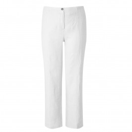 WILLE LINEN TROUSERS WHITE - Plus Size Collection